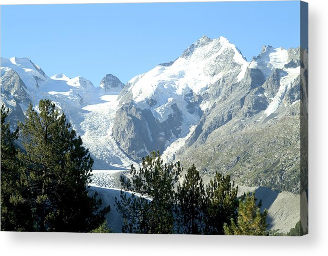 Switzerland Acrylic Print featuring the photograph Magnificent Swiss Glacier by Charles Ridgway