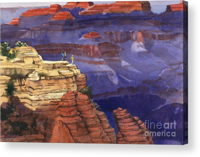 Grand Canyon Acrylic Print featuring the painting Majesty by Elizabeth Carr
