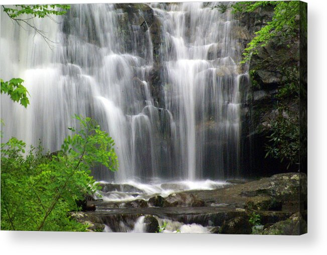 Meigs Falls Acrylic Print featuring the photograph Meigs Falls 2 by Marty Koch