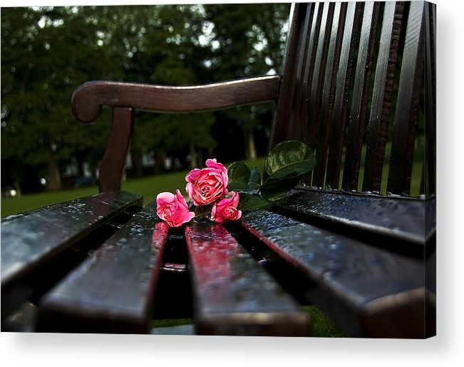 Bench Acrylic Print featuring the photograph Memmory... by Svetlana Sewell