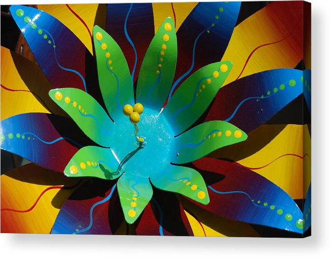 Sculpture Acrylic Print featuring the photograph Metallic Flora by William Thomas