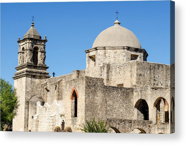 Mission Acrylic Print featuring the photograph Mission San Jose Towers by Shanna Hyatt