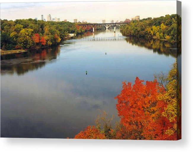 Mississippi Acrylic Print featuring the photograph Mississippi River by Kathy Schumann