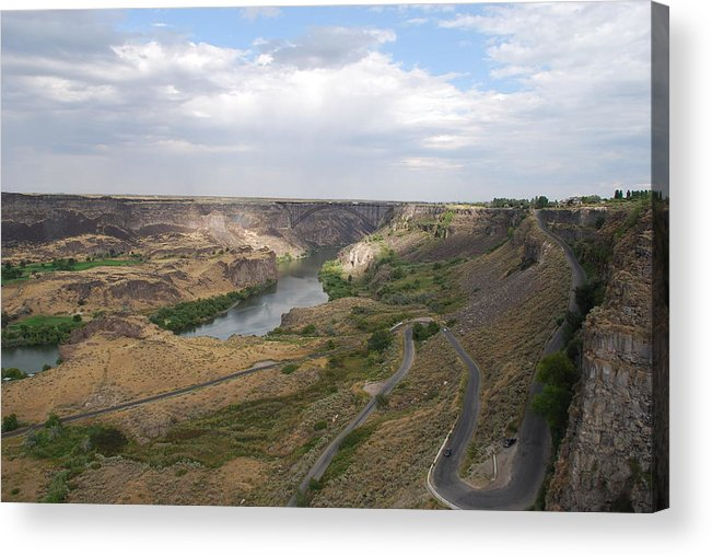 Twin Falls Acrylic Print featuring the photograph Morning Sun In The Canyon by Mary Griffin