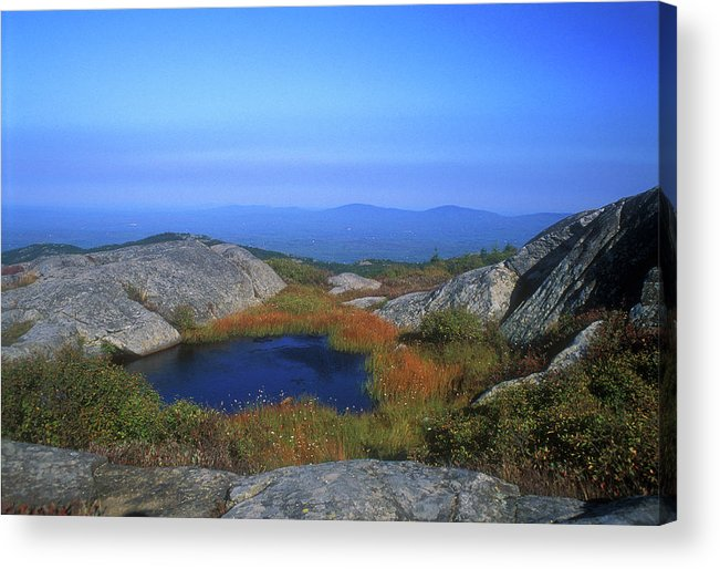 New Hampshire Acrylic Print featuring the photograph Mount Monadnock Summit Pond by John Burk
