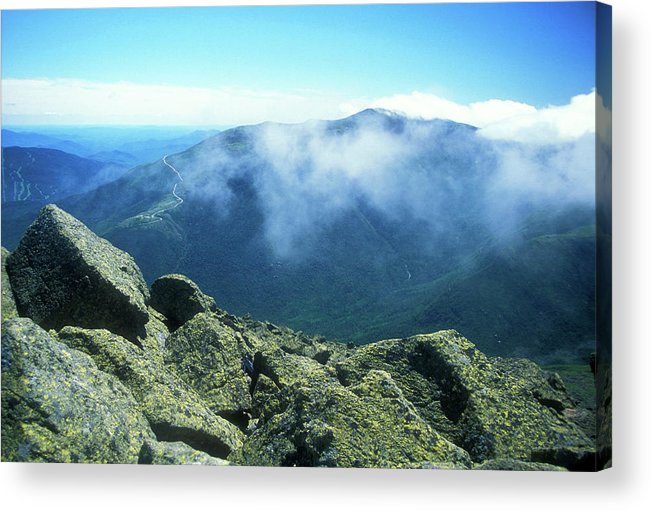 New Hampshire Acrylic Print featuring the photograph Mount Washington From Mount Adams Summit by John Burk