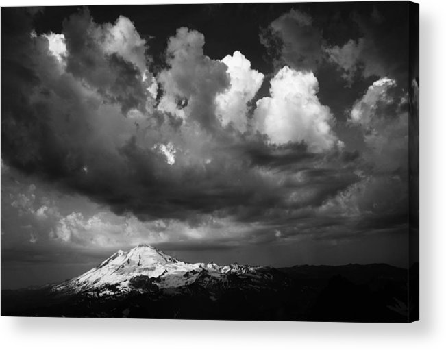 Mount Acrylic Print featuring the photograph Mt. Baker Thunderstorm. by Alasdair Turner