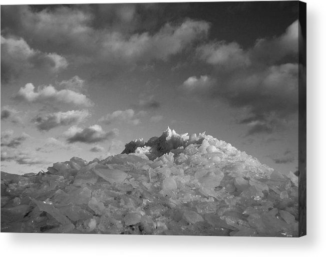 Ice Acrylic Print featuring the photograph Mt. Chilly by Jeff Galbraith