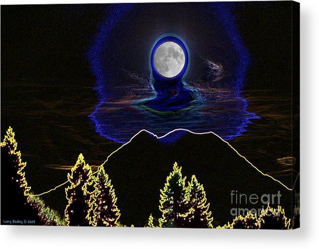 Washington Acrylic Print featuring the photograph Mystic Moon by Larry Keahey