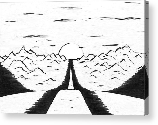 Narrow Acrylic Print featuring the drawing Narrow Gate by Adam Wells
