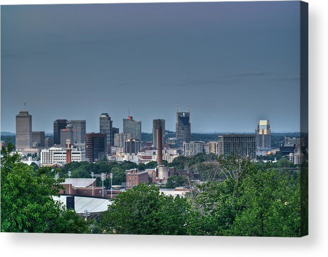 Nashville Acrylic Print featuring the photograph Nashville Skyline 2 by Douglas Barnett
