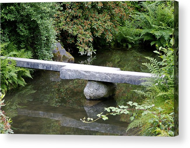 Japanese Garden Acrylic Print featuring the photograph Natural Bridge by Sonja Anderson