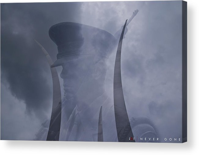 Air Force Acrylic Print featuring the photograph Never Gone by Jonathan Ellis Keys