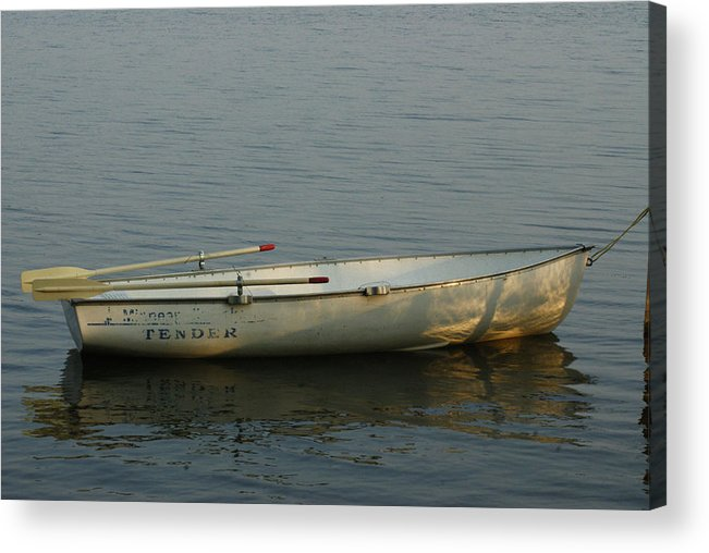 Rowboat Acrylic Print featuring the photograph New Oars by Ron Read
