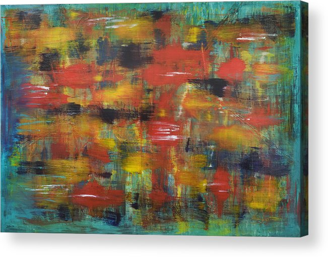 Abstract Acrylic Print featuring the painting New York Minute by Duane Nowell