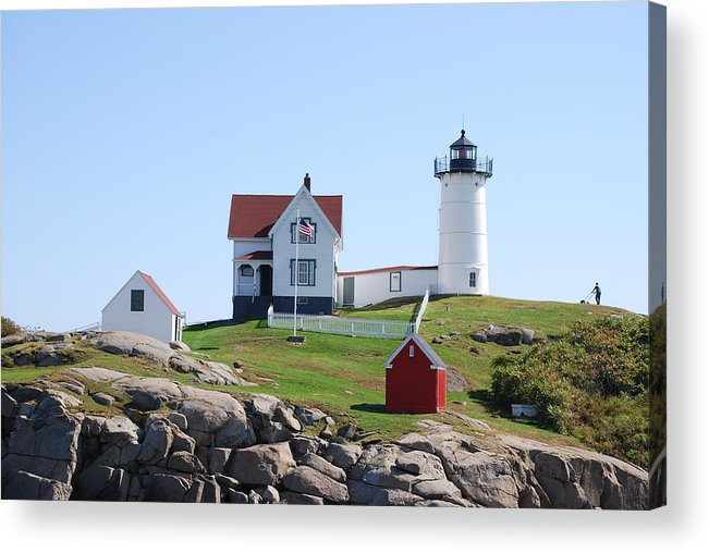 Lighthouse Acrylic Print featuring the photograph Nubble Light by Armand Hebert