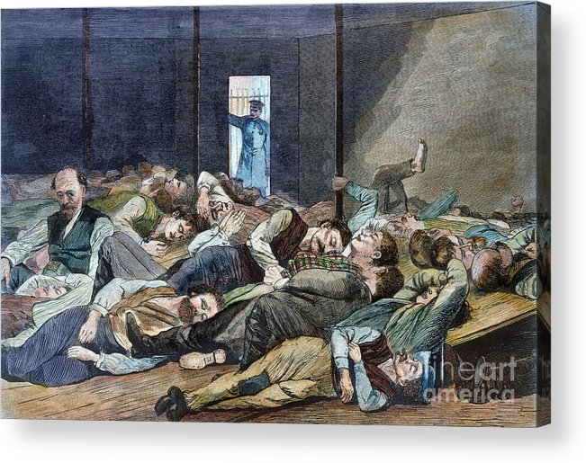 1874 Acrylic Print featuring the photograph Nyc: Homeless, 1874 by Granger