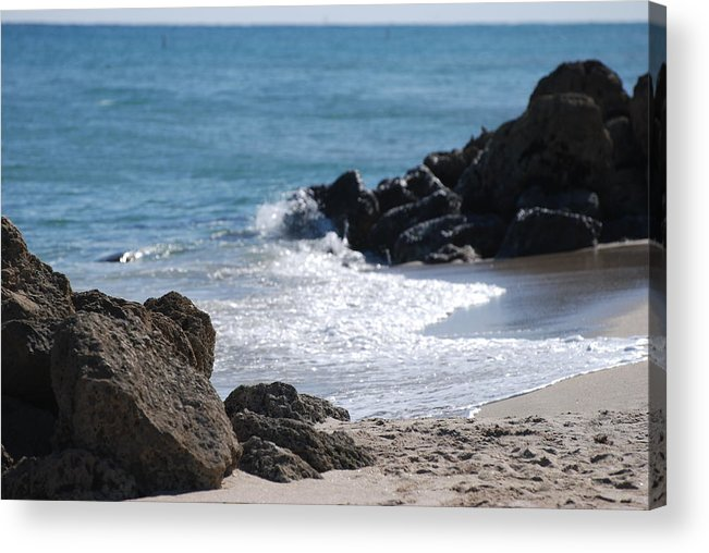 Sea Scape Acrylic Print featuring the photograph Ocean Rocks by Rob Hans