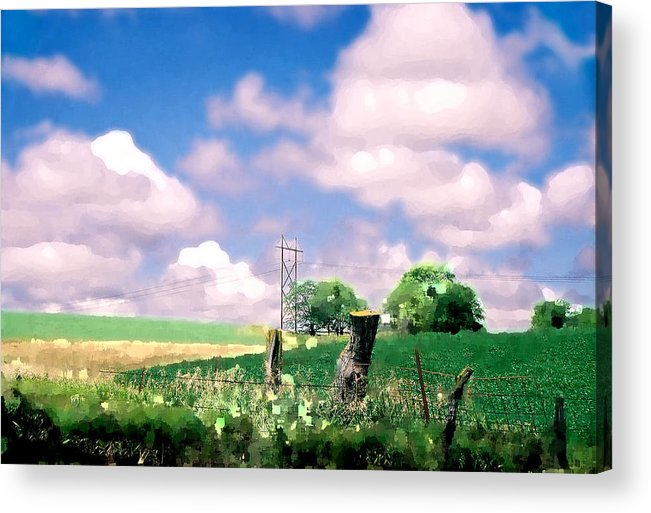 Landscape Acrylic Print featuring the photograph Off The Grid by Steve Karol