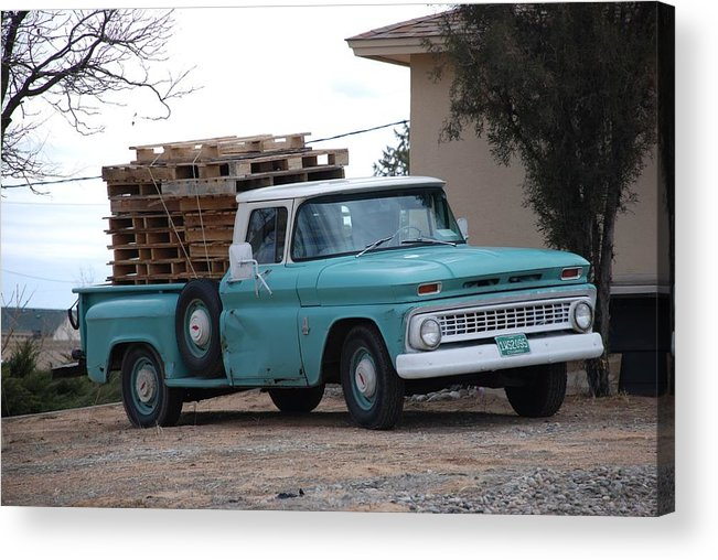 Old Truck Acrylic Print featuring the photograph Old Chevy by Rob Hans