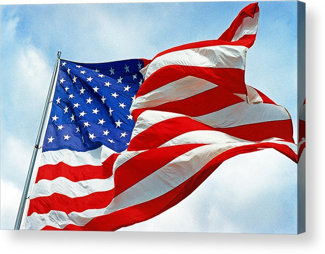 Old Glory Acrylic Print featuring the photograph Old Glory by Paul Trunk