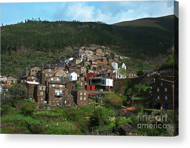 Ancient Acrylic Print featuring the photograph Old Moutain Village In Portugal by Homydesign