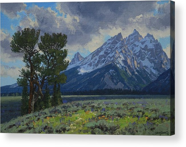 Landscape Acrylic Print featuring the painting Old Patriarch by Lanny Grant