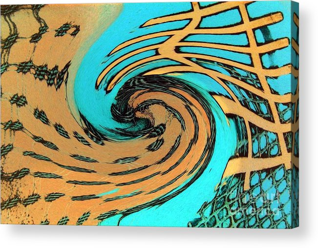 On The Edge Acrylic Print featuring the painting On The Edge by Dawn Hough Sebaugh