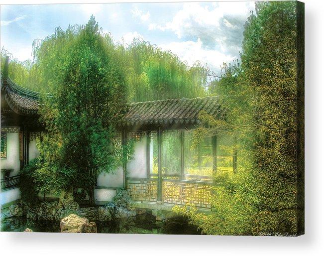 Savad Acrylic Print featuring the photograph Orient - Bridge - Chinese Bridge by Mike Savad