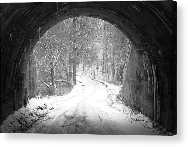 'winter Acrylic Print featuring the photograph Other Side by David Hubbs