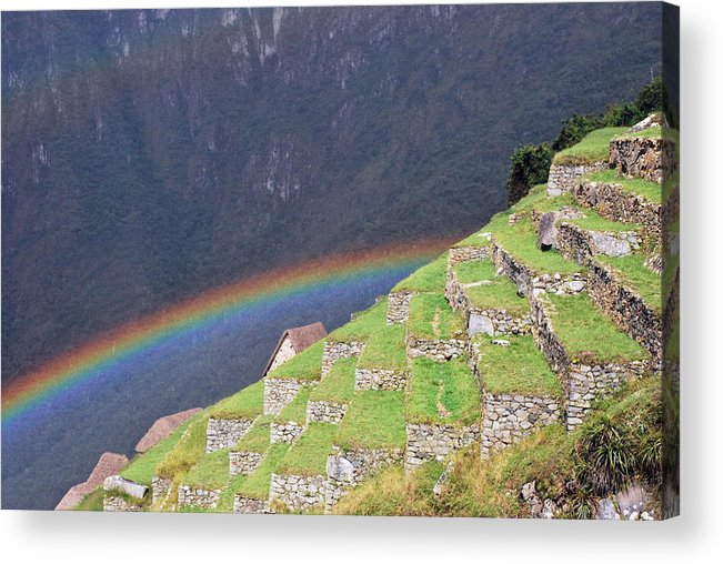 Machu Picchu Acrylic Print featuring the photograph Over The Rainbow by Alessandro Pinto