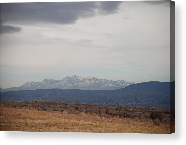 Mountains Acrylic Print featuring the photograph Overcast On The Sandias by Rob Hans