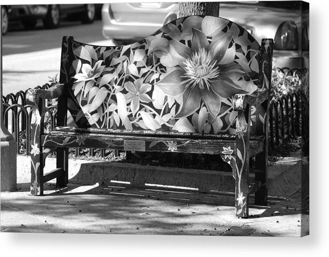 Pop Art Acrylic Print featuring the photograph Painted Bench by Rob Hans