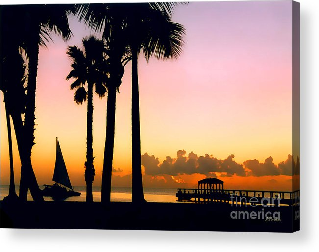 Impressionism Acrylic Print featuring the photograph Paradise In Nevis by Linda Parker