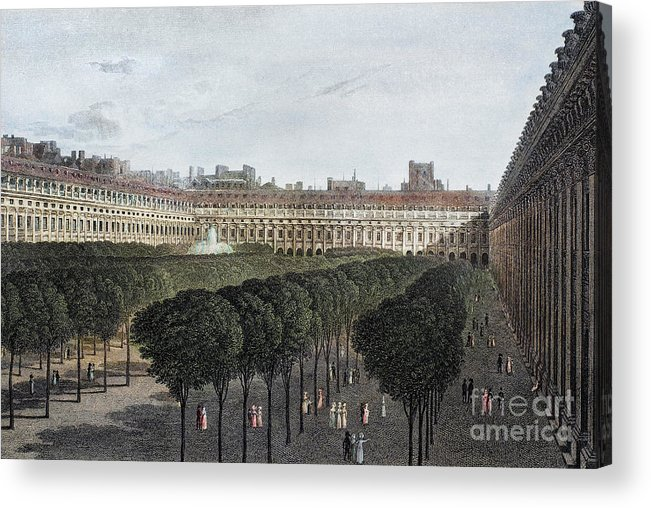 1821 Acrylic Print featuring the photograph Paris: Palais Royal, 1821 by Granger