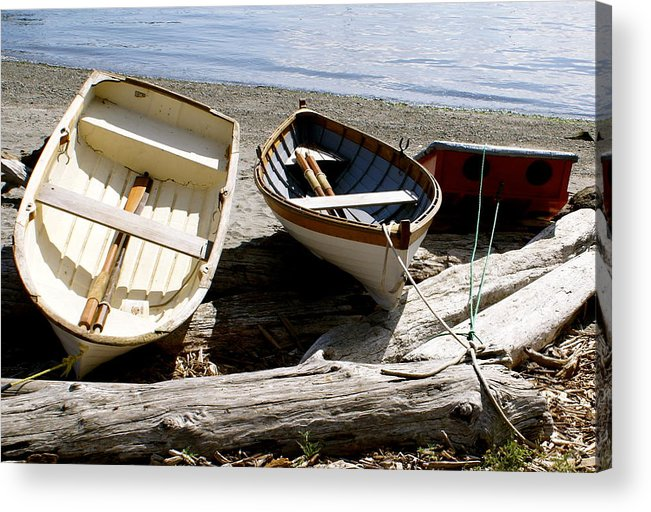 Row Boats Acrylic Print featuring the photograph Parked Boats by Sonja Anderson