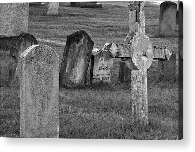 Cemetary Acrylic Print featuring the photograph Passed Away by Lisa Hebert
