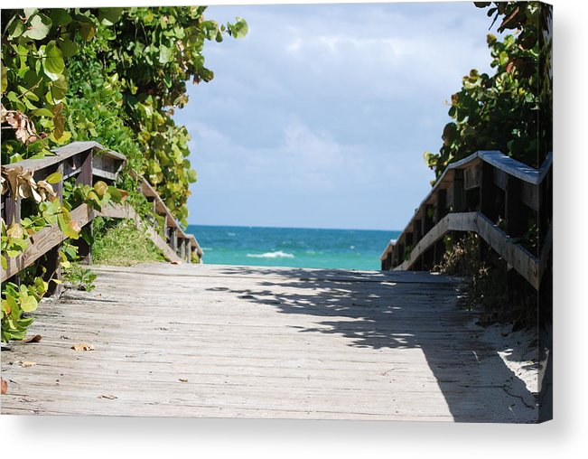 Sea Scape Acrylic Print featuring the photograph Path To Paradise by Rob Hans