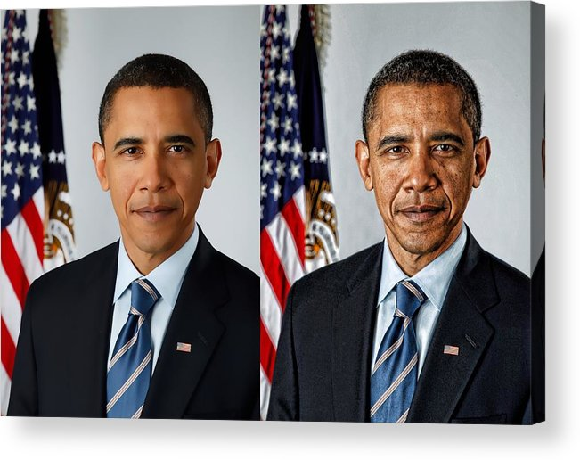 Obama Acrylic Print featuring the photograph Perceptions by Kevin Sherf