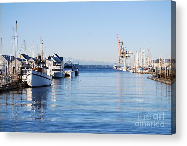 Olympia Acrylic Print featuring the photograph Percival Landing by Larry Keahey