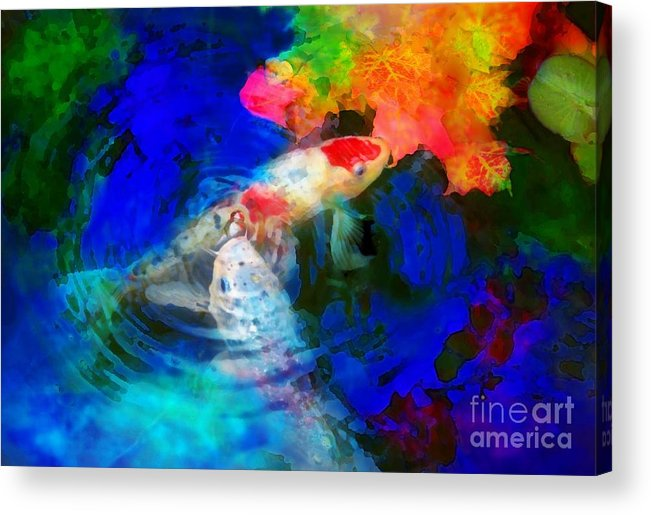 Autumn Ponds Acrylic Print featuring the photograph Playing With Autumn by Gina Signore