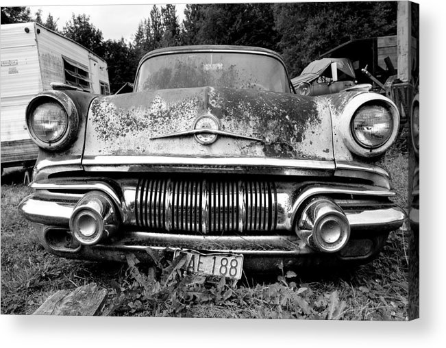 Car Acrylic Print featuring the photograph Pontiac Smile 2 by Jennifer Owen