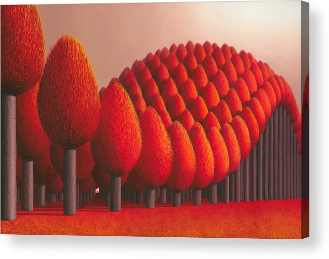 Tree Acrylic Print featuring the painting Populus Flucta by Patricia Van Lubeck