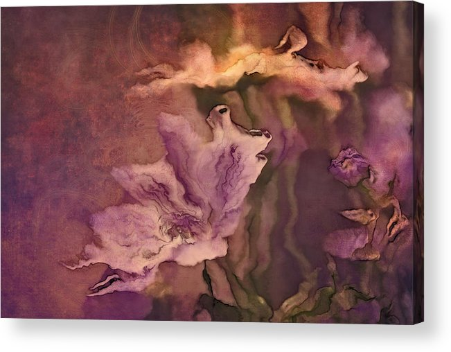 Flowers Acrylic Print featuring the digital art Pretty Bouquet - A04ct3 by Variance Collections