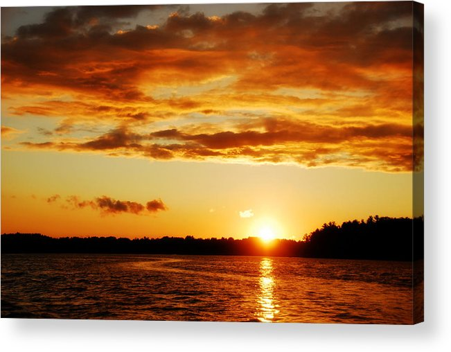 Sunset Acrylic Print featuring the photograph Pretty Orange Sky by Madelin Zaycheck