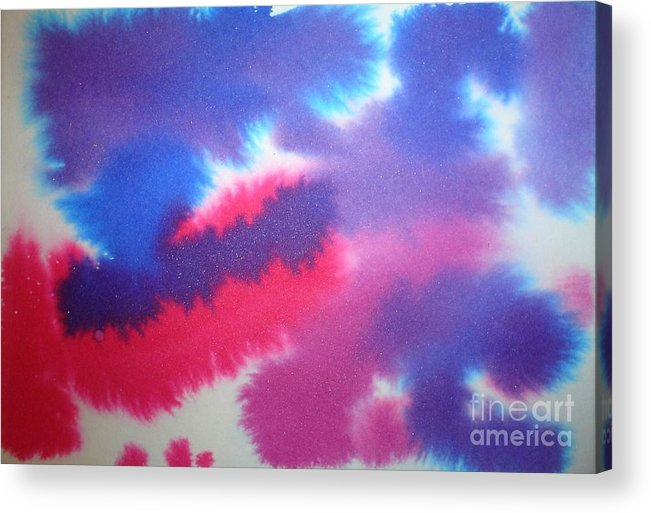 Abstract Acrylic Print featuring the painting Purple Wisp by Chandelle Hazen