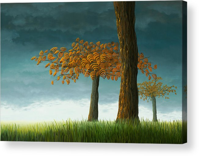 Tree Acrylic Print featuring the painting Quercus Corymbion by Patricia Van Lubeck