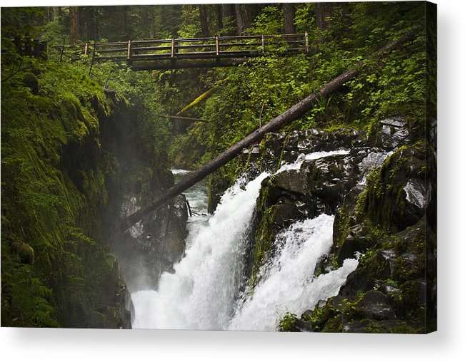 Water Acrylic Print featuring the photograph Raging Water Fall by Chad Davis