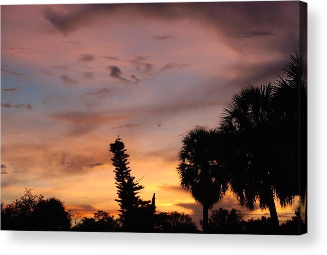 Sunset Acrylic Print featuring the photograph Rainbow Sunset by Rob Hans