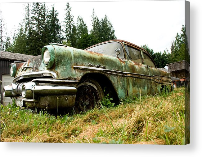 Pontiac Acrylic Print featuring the photograph Re-tired by Jennifer Owen